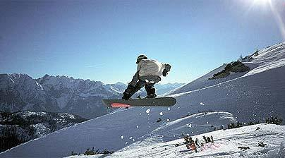 Zell am See snowboarding