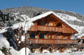 Exterior of the Alpaga in Megeve, France