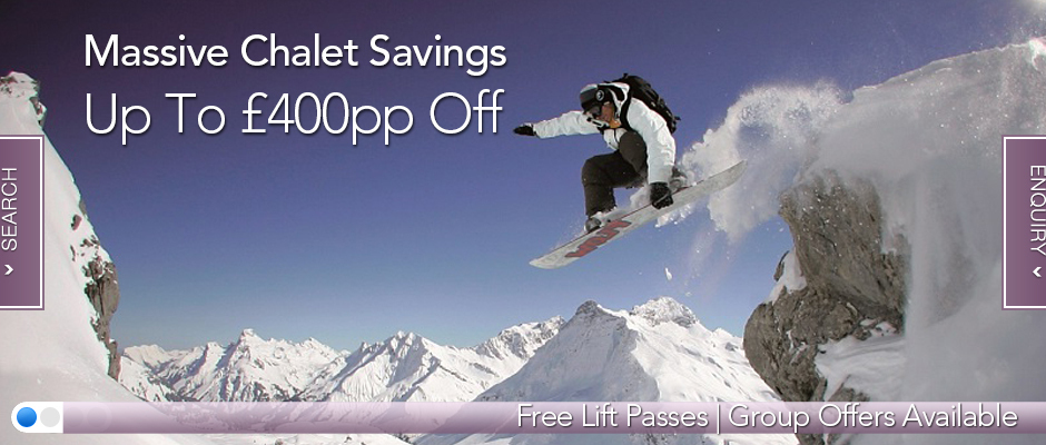 Homepage Banner - Chalet Offers Dec/Jan