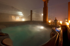 Chalet Silver Verbier Hot Tub