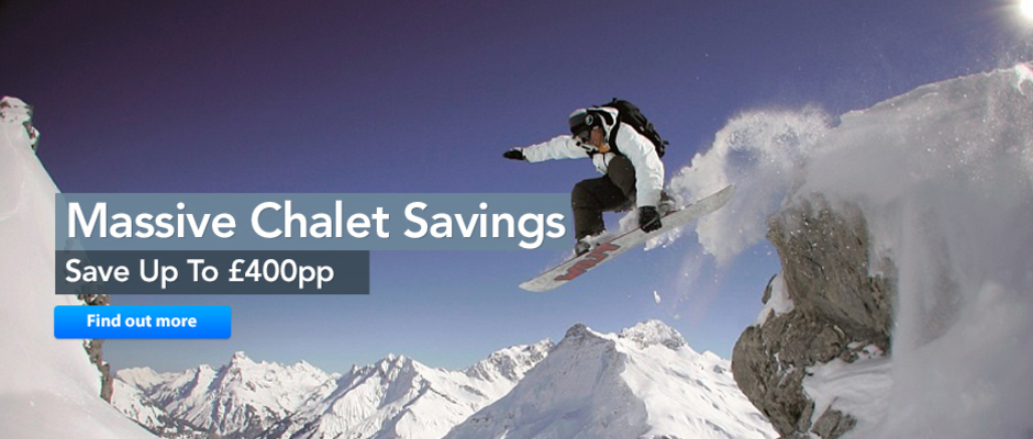 Chalet Savings - New Homepage banner
