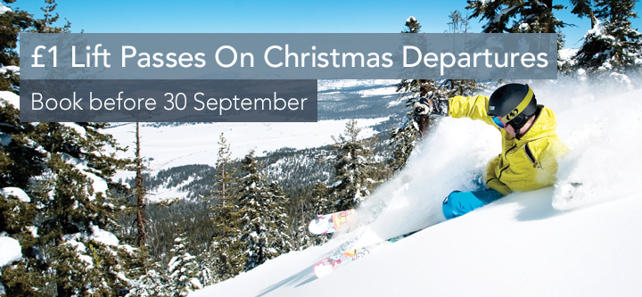 £1 Lift passes on Christmas departures