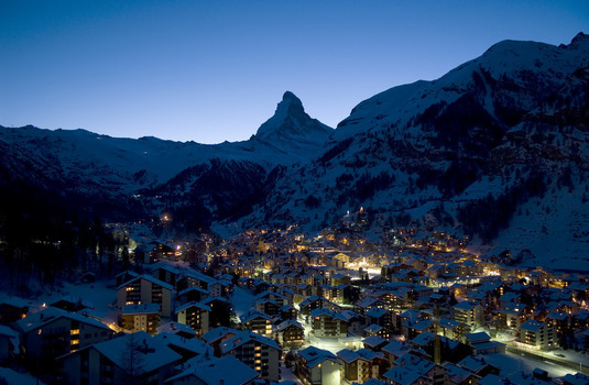Zermatt Village at Night