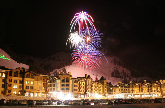 Squaw Valley Village Fireworks (Photo © Chris Beck)