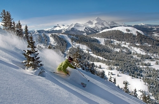 Telluride Powder Skier (Photo © Galena Wilson)