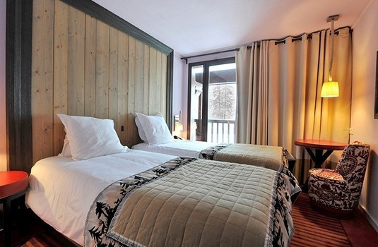 Another lovely bedroom at Club Med Val D'Isere