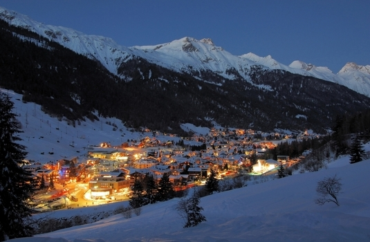St Anton Village at Night