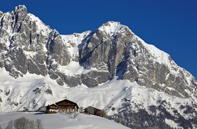 Austrian mountain chalet and scenery