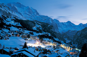 Switzerland Ski Resort Wengen Village