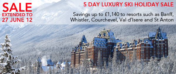 5 Day luxury Ski Holiday Sale